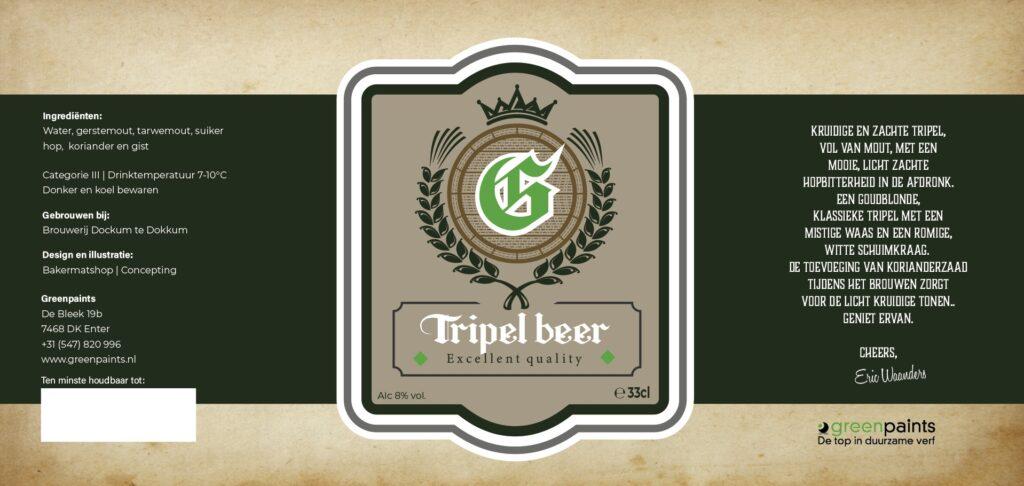 Trippel beer GreenPaints