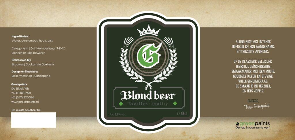 Blond beer GreenPaints
