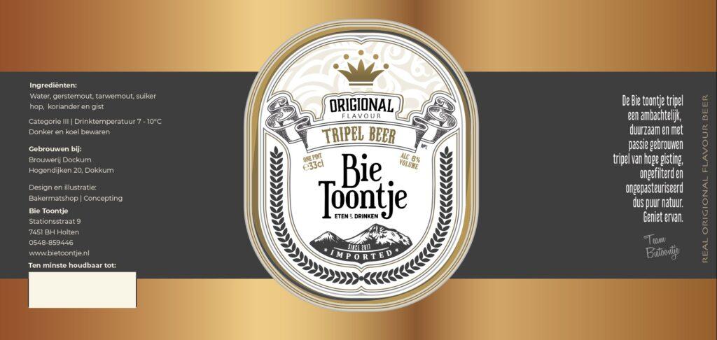 Trippel beer Bie Toontje